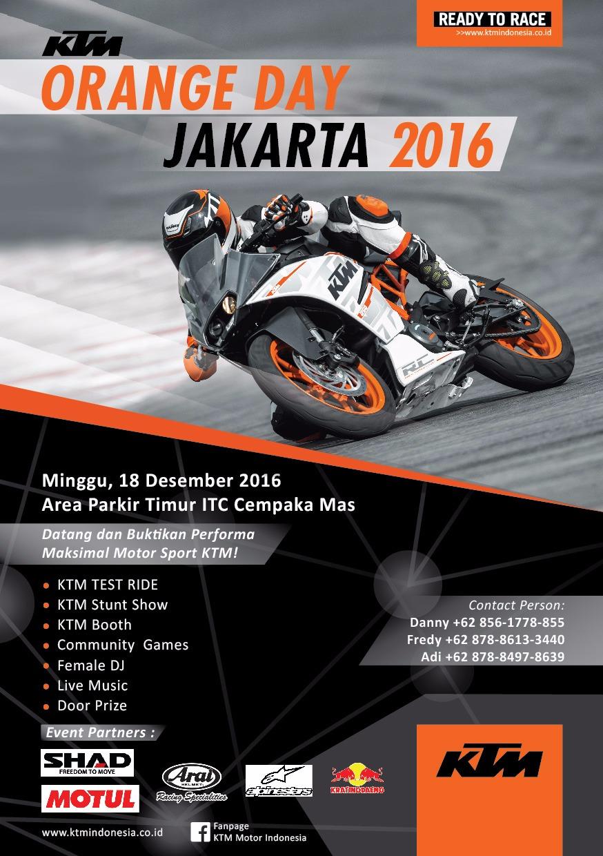KTM ORANGE DAY, JAKARTA2016