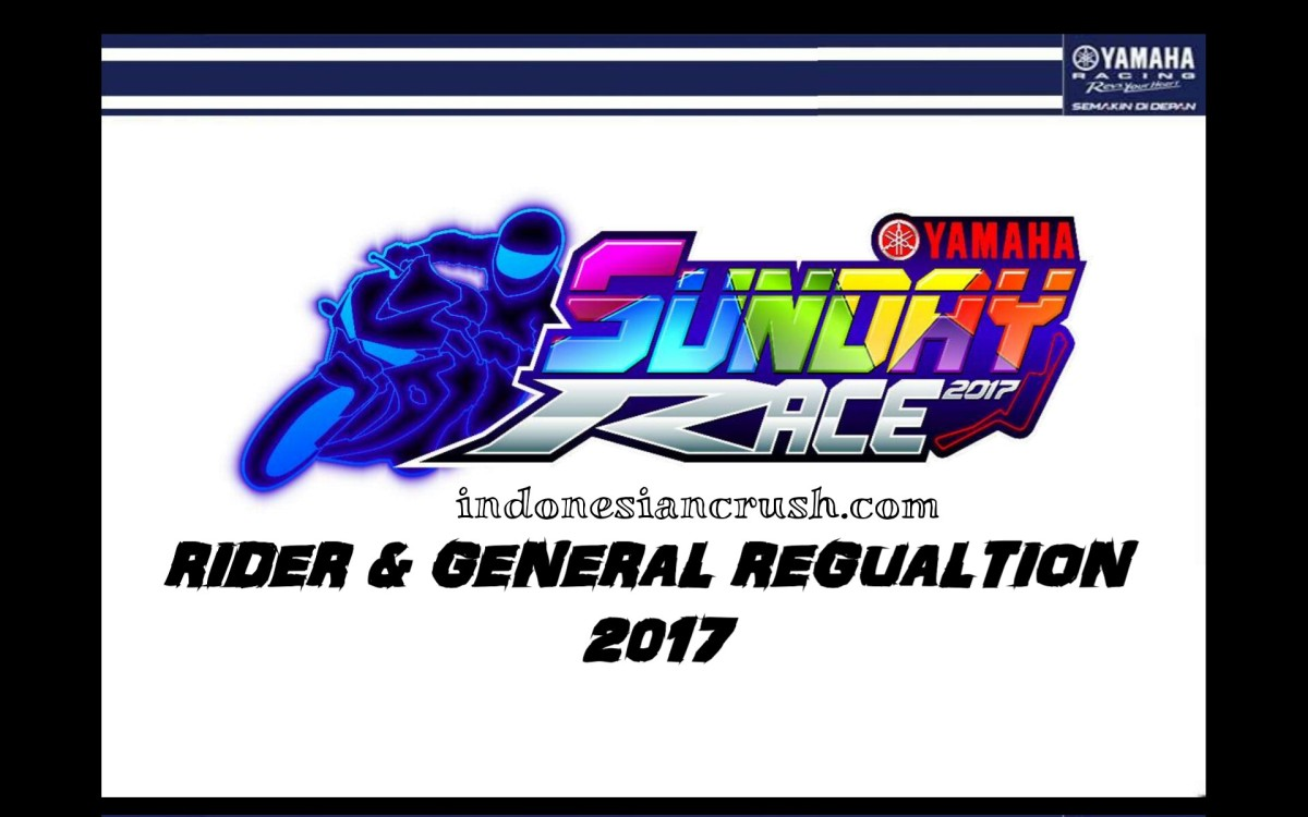 SUNDAY RACE FIX SCHEDULE, RIDERS & GENERAL REGULATIONS 2017
