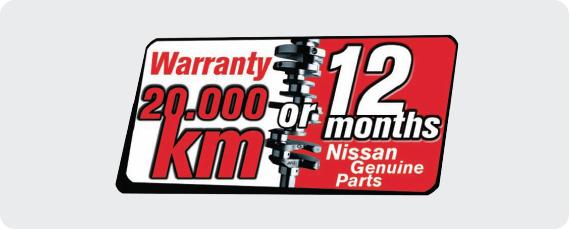 Warranty NISSAN Genuine Parts