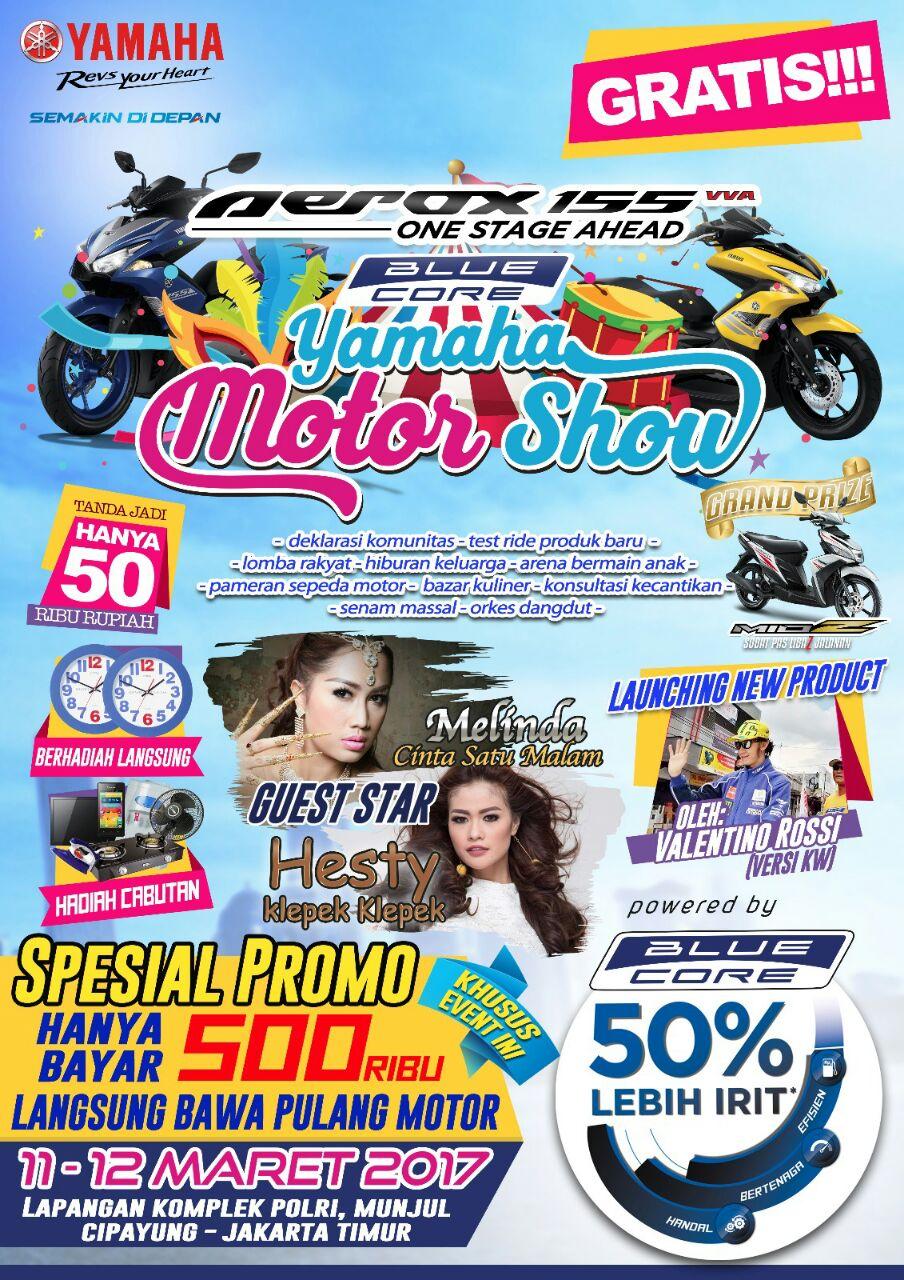 BLUE CORE YAMAHA MOTOR SHOW JAKARTA 2017 & KOPI SANTAI YRFIJAKARTA