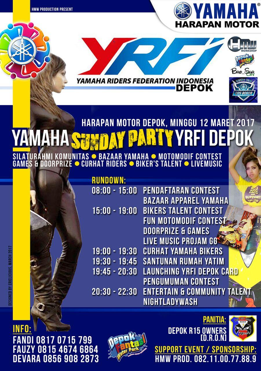 YAMAHA SUNDAY PARTY YRFIDEPOK