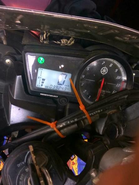 Kondisi Odometer setelah digunakan 15 hari menggunakan oli X-Ten XT-40