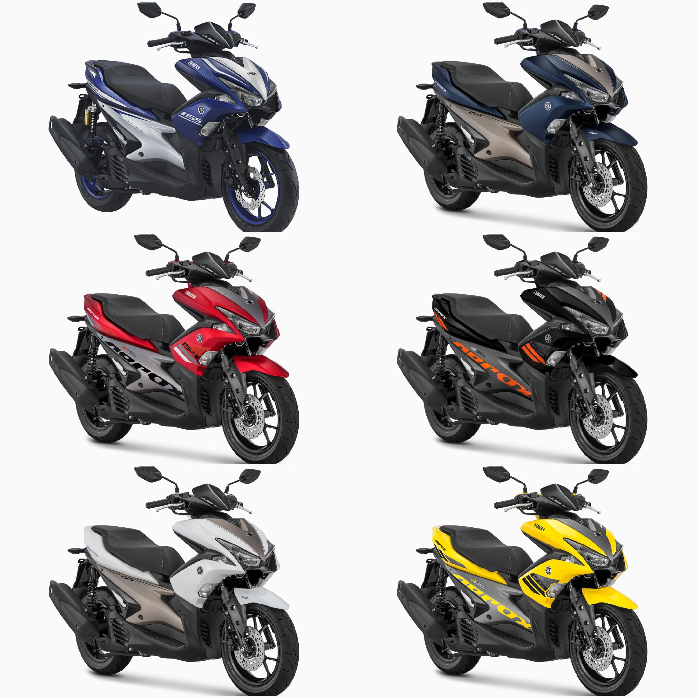 Menjelang Akhir Tahun 2017 Ini Yamaha Menyegarkan Tampilan Dua Varian Aerox 155VVA Dengan Tone Color Yang Lebih Kontras Sehingga Tampak Sporty Untuk