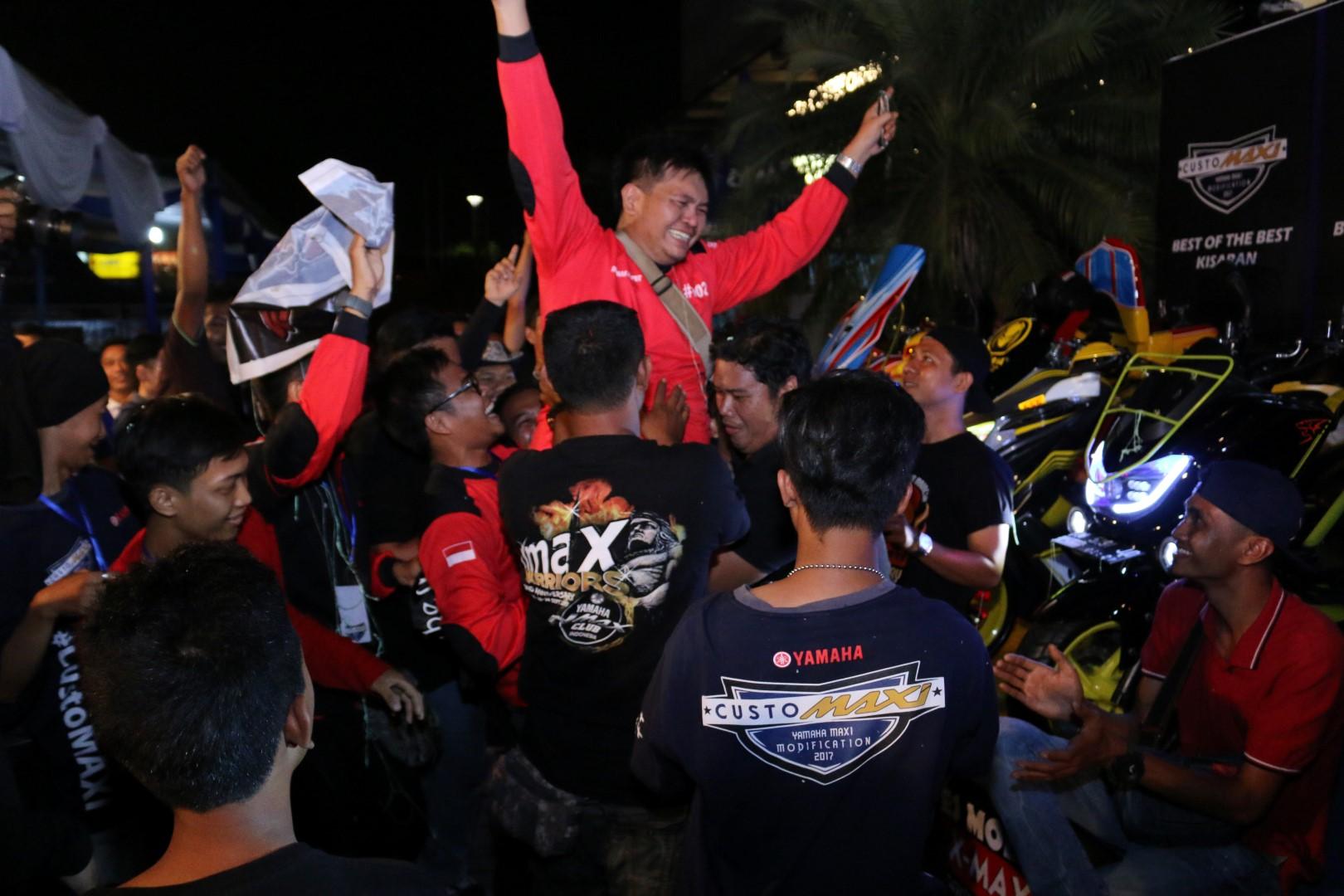 Kemeriahan komunitas MAXI Yamaha di ajang CustoMAXI