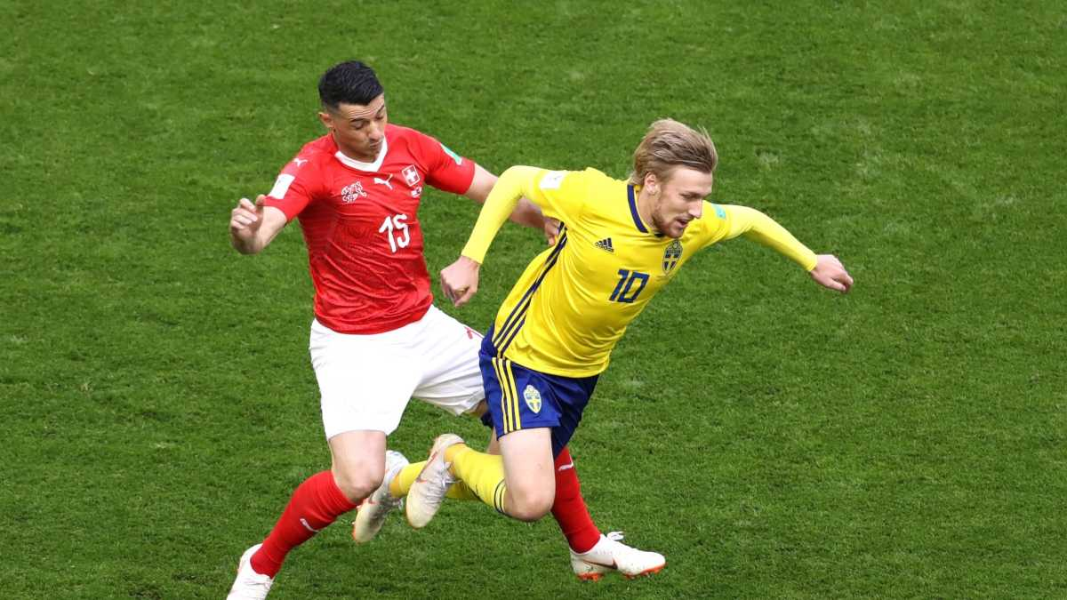 FIFA WORLD CUP KNOCK OUT RESULT, SWEDEN 1 – 0 SWITZERLAND