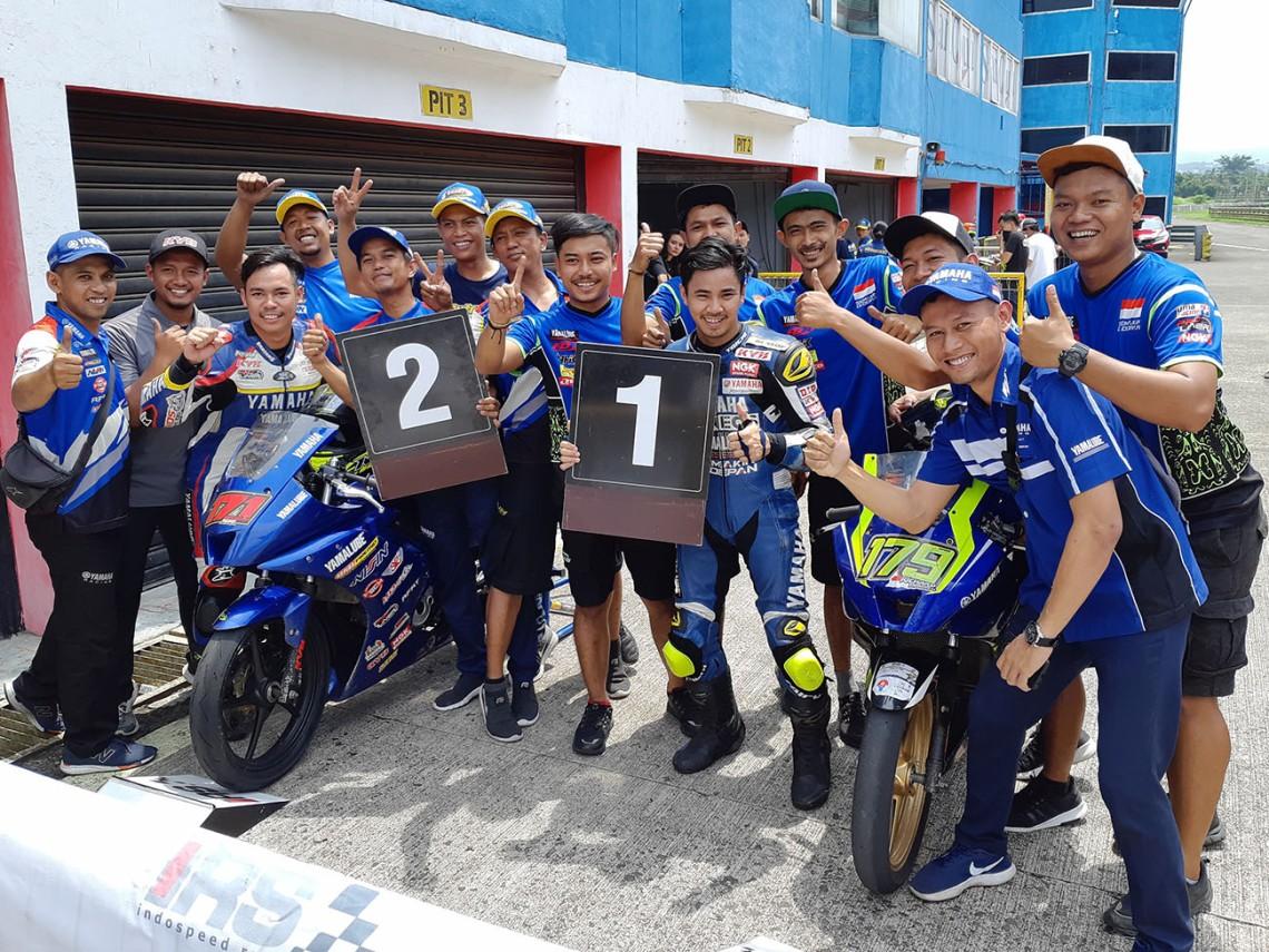 Richard Taroreh Juara 1 dan Reynaldi Pradana Juara 2, Race Pertama Sport 150 cc