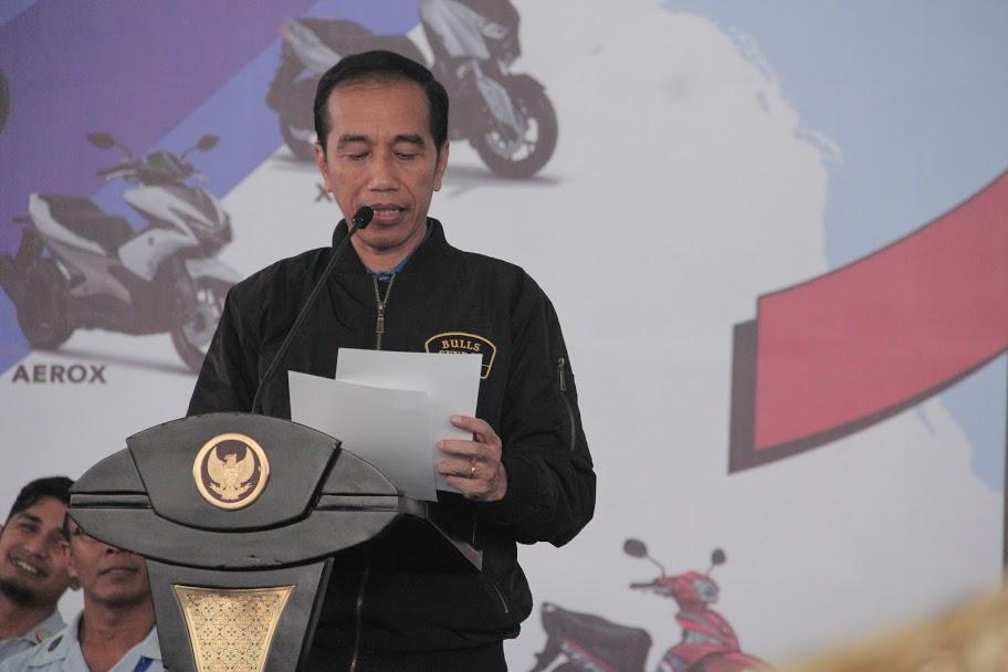 Jokowi Pidato di Yamaha