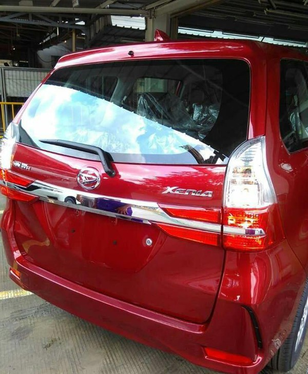 Tampilan Body belakang baru New Daihatsu Xenia 2019