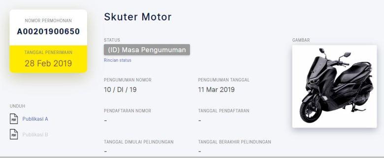 New Yamaha NMax 2019 HKI Registrasi