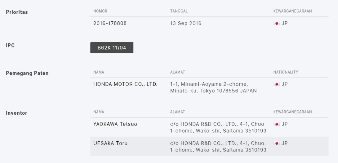 Chassis Honda Exmotion Designer