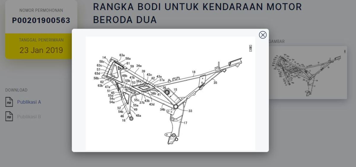 HONDA PATENKAN RANGKA CB150 EXMOTION /STREETSTER