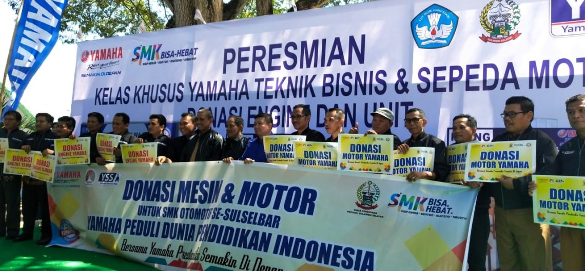 Donasi Unit Motor dan Mesin Yamaha