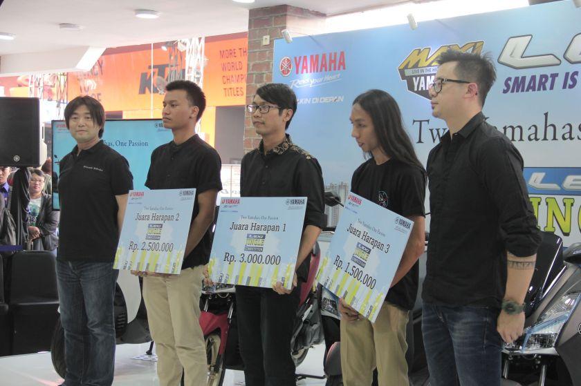 Juara Harapan 1 (Alan Wijanarko & tim), Juara Harapan 2 (Defa Derian & tim), Juara Harapan 3 (Adnan Rizky (Miracle Worker) & tim) Lexi Jingle Competiton