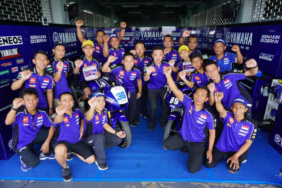 RIDER YAMAHA INDONESIA RAIH DOUBLE PODIUM DI RACE 2THAILAND