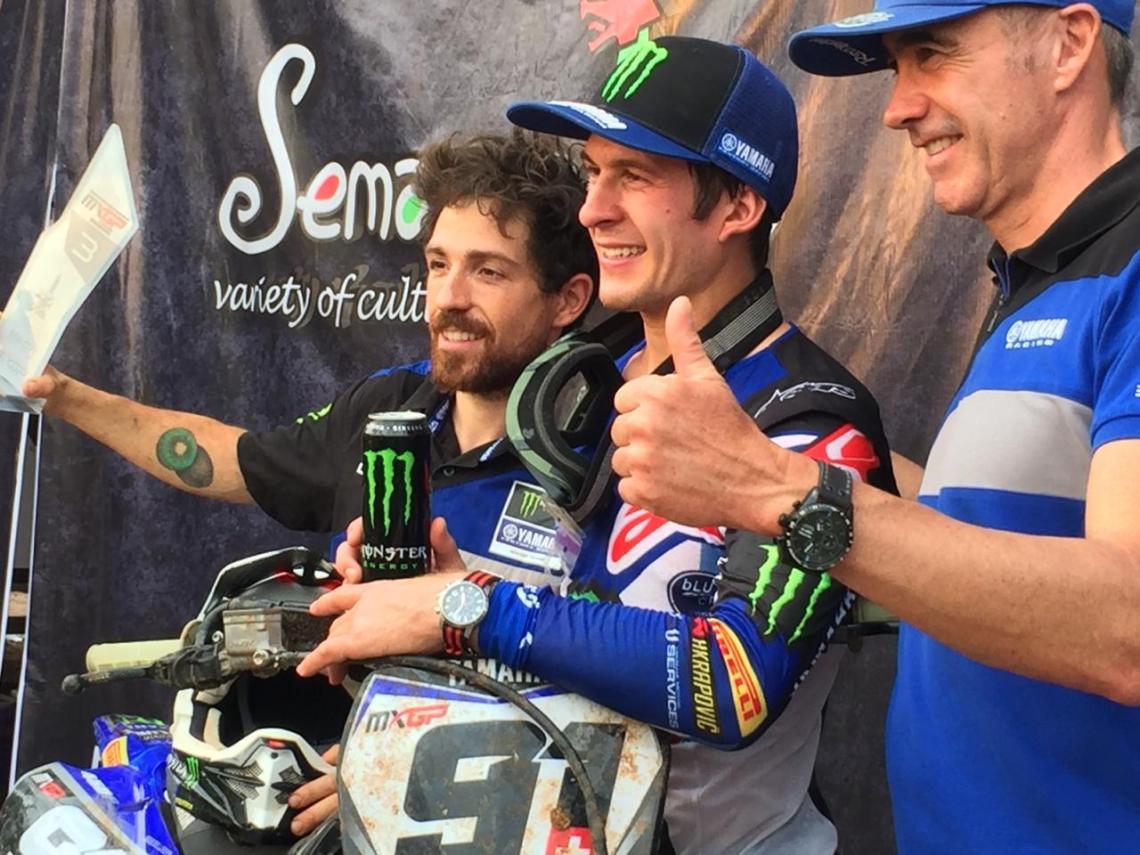 Jeremy Seewer podium ke-3 race 2 MXGP Semarang