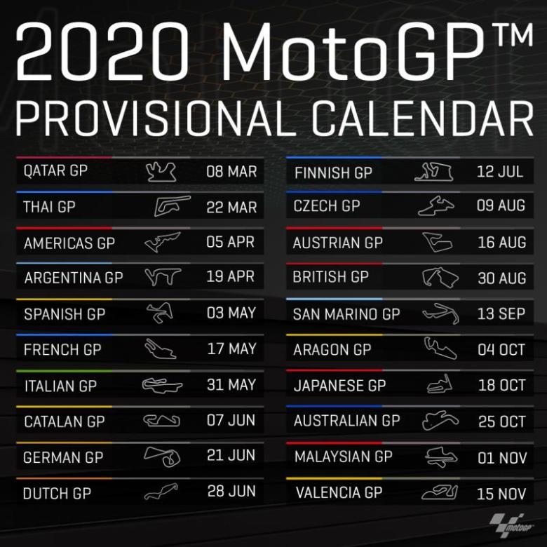 MotoGP 2020 Calendar