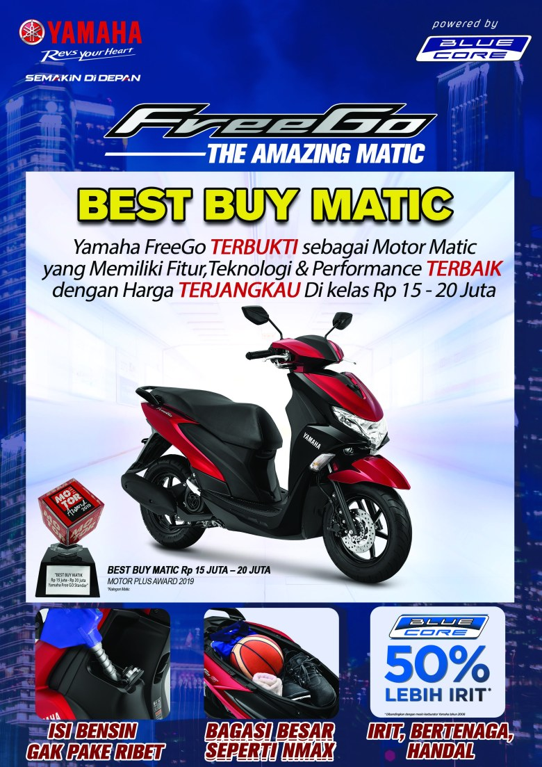 2. Yamaha FreeGo- Best Buy Matic