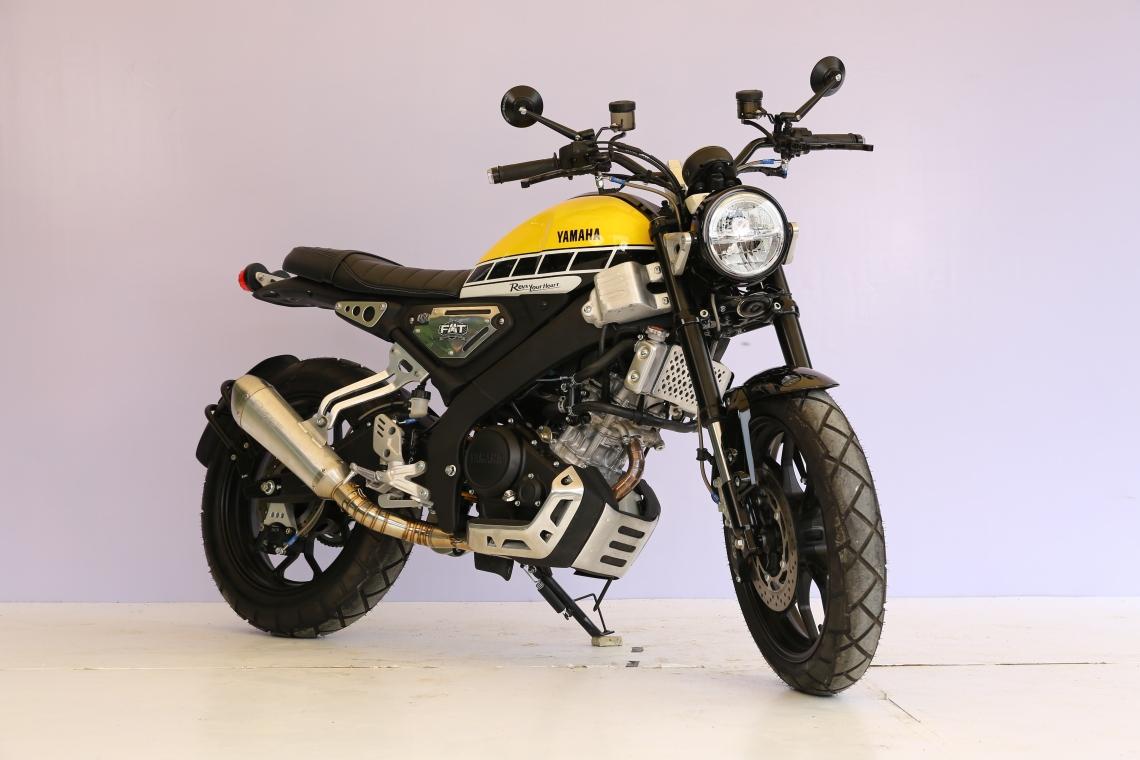 Pemenang Kategori Yamaha Heritage Built XSR 155 CustoMAXI x YAMAHA Heritage Built Jabodetabek 2020 (Dezka Sander)