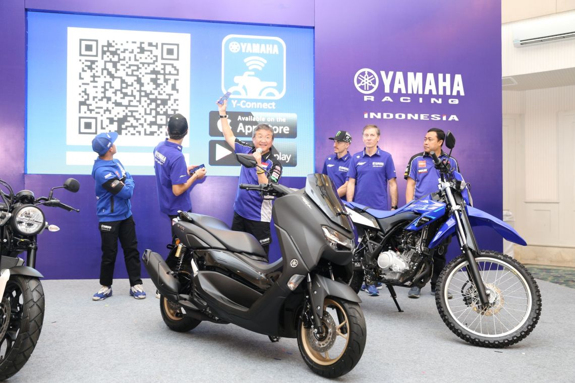 Launching Aplikasi Y-Connect All New Nmax 155 Connected ABS Bersama Valentino Rossi dan Maverick Vinales (3)
