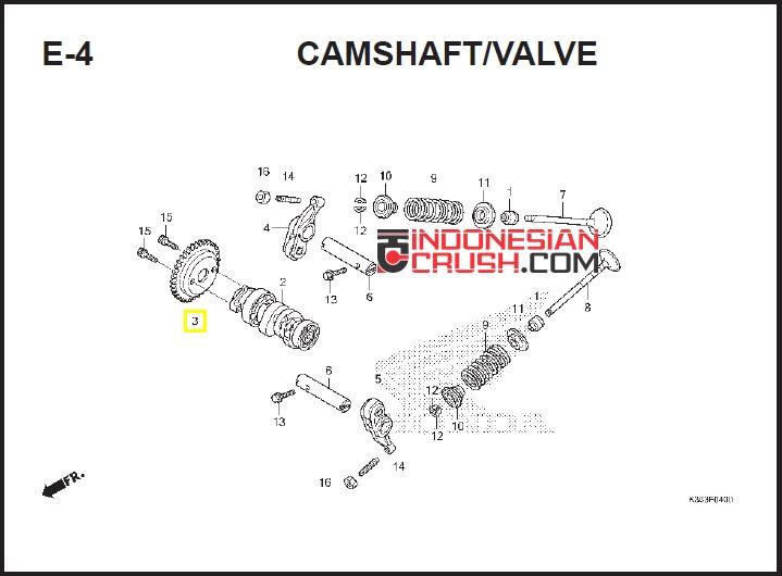 PCX Chamshaft Valve