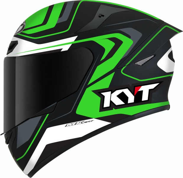 KYT TT Course Overtech Black Green Side